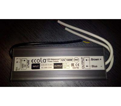 Блок питания для светодиодной ленты LED strip Power Supply 100W 220V-12V IP67