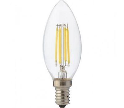 Лампа светодиодная (E14, 4000K, 7W, филамент)