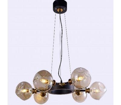 Люстра-светильник на подвесе Молекула, желтые плафоны