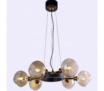 Люстра-светильник на подвесе Молекула, черные плафоны