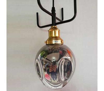 Люстра-светильник на подвесе Молекула (плафон маленький черный)