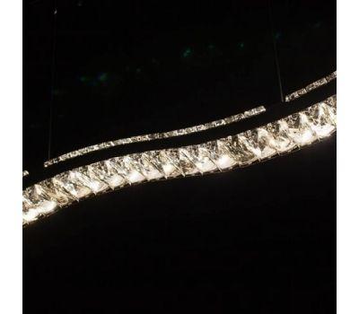 Люстра-светильник на подвесе (хрусталь, лестница)