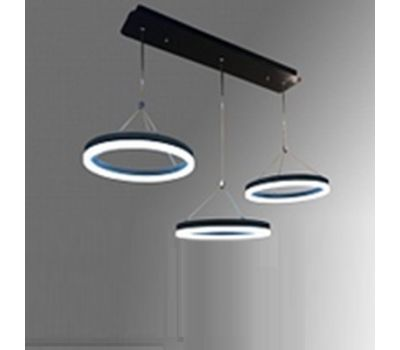 Led-светильник потолочный, с подвесами, 7088 3*21w Black