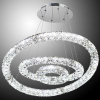 Люстра Crystal led 3 кольца