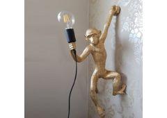 Бра Обезьянка с лампой золотая